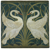 Swan Wallpaper, by Walter Crane