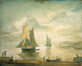 An Estuary with Two Sailing Boats, by Thomas Gainsborough