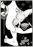 Birth from the calf of the leg, by Aubrey Beardsley