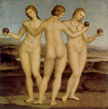 The Three Graces of Chantilly, by by P. de Vecchi