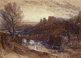 A Towered City or The Haunted Stream, by Samuel Palmer