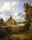The Cottage in a Cornfield, by John Constable