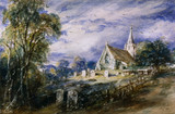 Stoke Poges Church, by John Constable