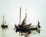 Fishing boats at anchor, by John Constable