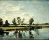 Water Meadows Near Salisbury, by John Constable