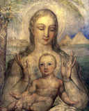 The Virgin and Child in Egypt, by William Blake