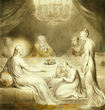 Christ In The House Of Mary & Martha, by William Blake