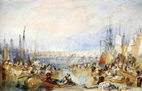 The port of London, by J.M.W. Turner