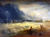 Lifeboat rescuing vessel in distress with Manby Apparatus, by J.M.W. Turner