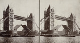 Stereoscopic photograph of Tower Bridge