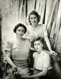 Queen Elizabeth, the Queen Mother, Princess Margaret and Queen Elizabeth II