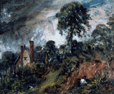 A Cottage among the Trees, by John Constable