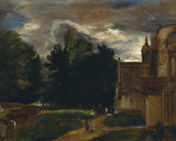 Porch of East Bergholt Church, by John Constable