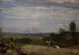 Dedham from Langham, by John Constable
