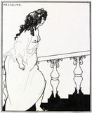 Messalina returning from the bath, by Aubrey Beardsley