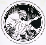 Merlin by F. Evans, after Aubrey Beardsley