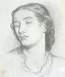 Study of a woman's head, by Dante Gabriel Rossetti
