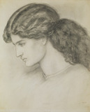 Profile Head of a Lady, by Dante Gabriel Rossetti