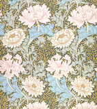 Chrysanthemum wallpaper, by William Morris