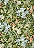 Golden Lily wallpaper, by William Morris