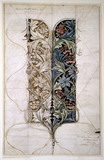 Columbine, design for textile, by William Morris