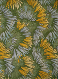 Crocus, fabric design by George Haité