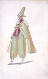 Costume design for the Serious One's Fools in the Ballet du Serieux et du Grotesque