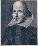Shakespeare, frontespiece to the First Folio