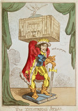 Caricature of Edmund Kean as The Theatrical Atlas
