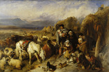 The Drover's Departure, a scene in the Grampians, by Sir Edwin Henry Landseer