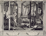 The Fellow Prentices at Their Loom, by William Hogarth