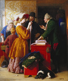 Choosing the Wedding Gown, by William Mulready