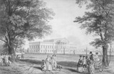 Exterior of Wanstead House, Essex, by George Robertson