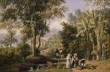 Garden Scene on the Braganza Shore, by William Havell