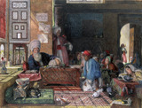 Interior of A School in Cairo, by John Frederick Lewis