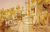 Akal Boonga at the Golden Temple at Amritsar, by William Simpson