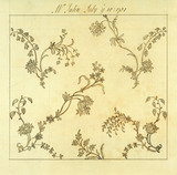 Design for woven silk, by Anna Maria Garthwaite