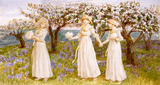 The Three Girls in White, by Kate Greenaway