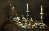 Tea service on tray