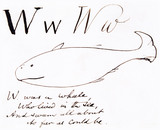 The letter W, by Edward Lear