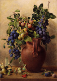Jugs, Plums and Rosehips, by William Henry Hunt