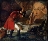 Gulliver Exhibited to the Brobdingnag Farmer, by Richard Redgrave