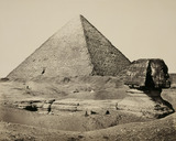 Great Pyramid and the Sphinx, Egypt, by Francis Frith