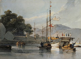 Shipping on a Chinese River, by George Chinnery