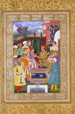 The Emperor Jahangir receiving his second son, Prince Parviz in audience