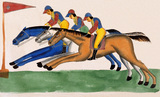 Jockeys horse racing