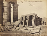The Rameseum of El-Kurneh, Thebes, photo Francis Frith