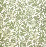 Wallpaper, Thistle, by William Morris