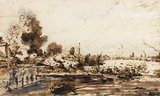 Sketch for The Opening of Waterloo Bridge, by John Constable