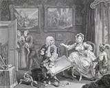 A Harlot's Progress, one of a series, by William Hogarth